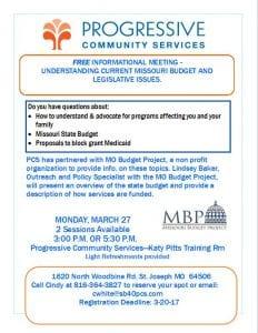 Screenshot: MO BUDGET PRESENTATION flyer