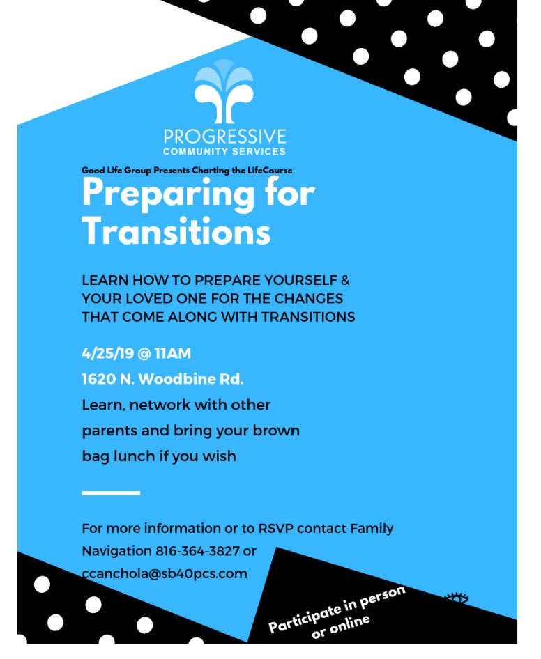 GOOD LIFE MEETING – PREPARING FOR TRANSITIONS