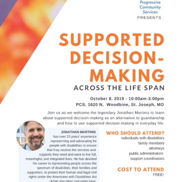National Supported Decision-Making Expert Jonathan Martinis to come to PCS next month