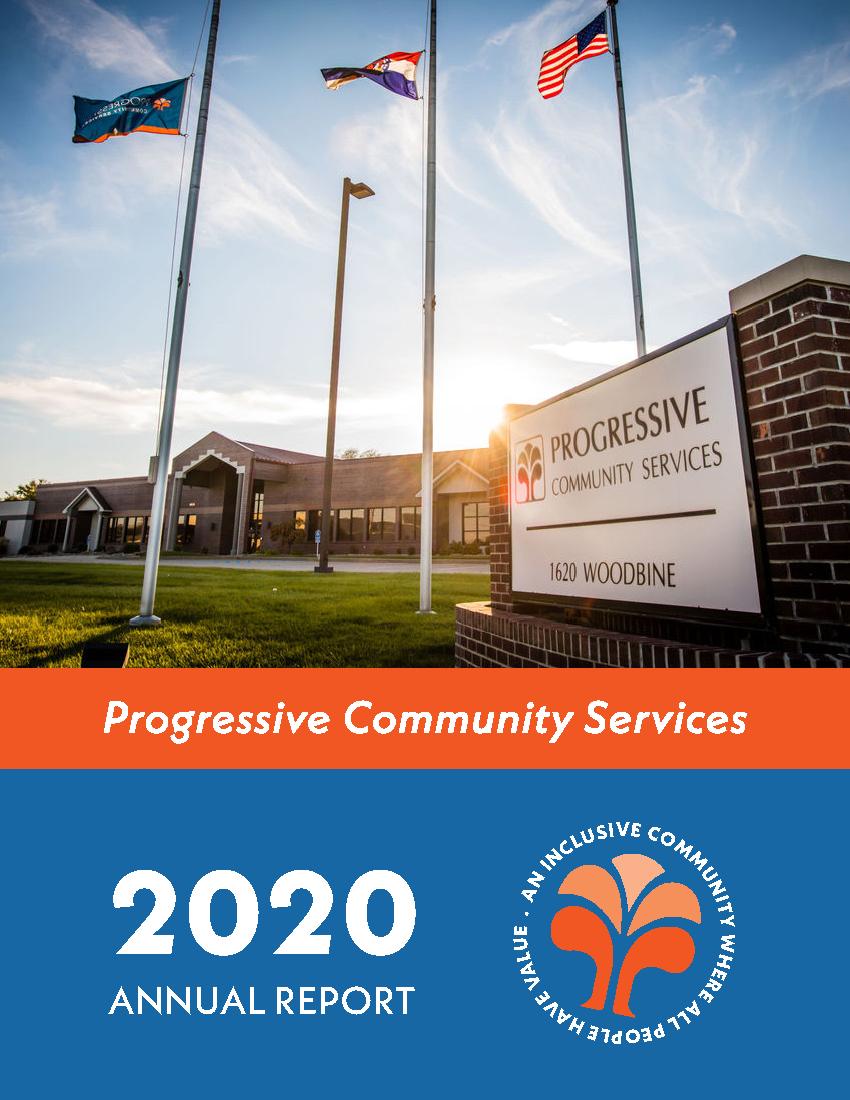 Image: Cover of 2020 Progressive Community Services Annual Report